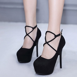 Ericdress Round Toe Low-Cut Stiletto Heel Pumps