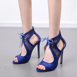 Ericdress Peep Toe Lace-Up Stiletto Sandals