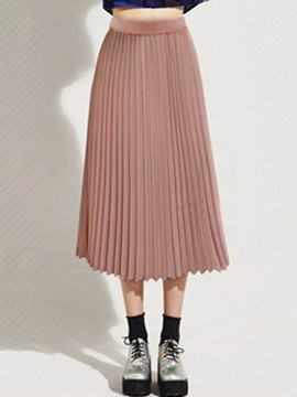 Ericdress Chiffon Pleated High-Waist Women's Skirt