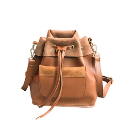 Ericdress Solid Color String PU Women Backpack