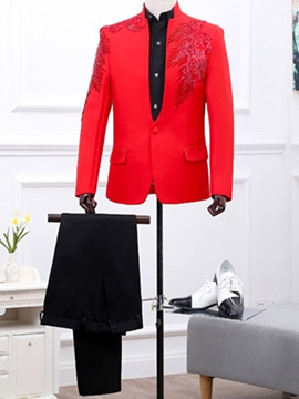 Ericdress Stand Collar Sequins Wedding Men's Suit
