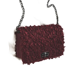 Ericdress Solid Color Blanketry Chain Crossbody Bag