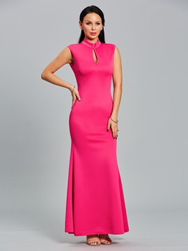 Ericdress hollow backless sirena maxi vestido