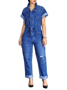 Ericdress Loose Denim Women's Jumpsuit