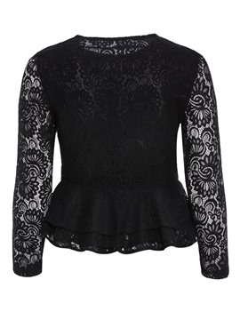 Ericdress Plus-Size Hollow Lace Ruffles Jacket