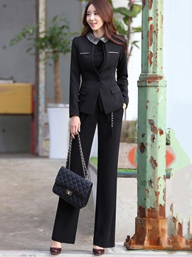 Ericdress Blazer and Pants Women's Suit