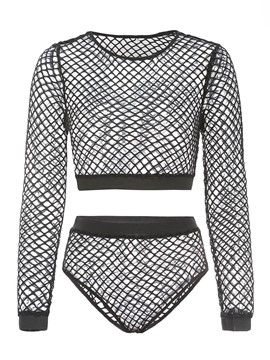 Ericdress Mesh Women's Two Piece Set