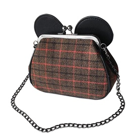 Ericdress Mickey Ears Design Plaid Crossbody Bag