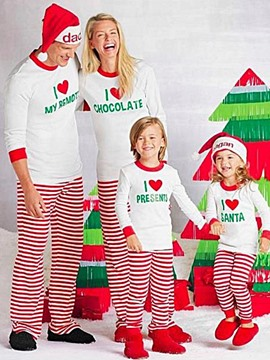 Ericdress Christmas Family Pajamas Letter Women's Suit