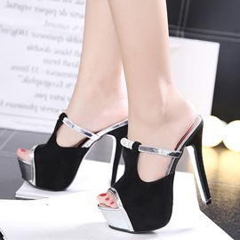 Ericdress Flip Flop Platform Plain Stiletto Mules Shoes