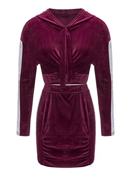 Ericdress Hoodie and Skirt Women's Suit