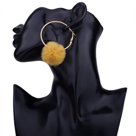 Ericdress New Style Concise Pom Pom Earrings