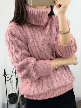 Ericdress Thick Turtleneck Chunky Knit Sweater
