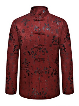 Ericdress Stand Collar Chinese Style Men's Jacket