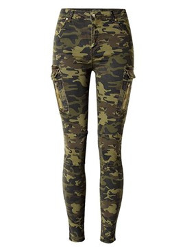Ericdress Camouflage Pocket Women's Jeans