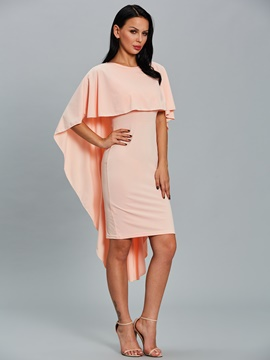Ericdress Scoop Flare Sleeve Knee-Length Bodycon Dress