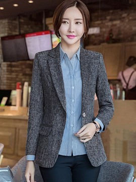Ericdress Plain One Button Nine Points Sleeve Blazer