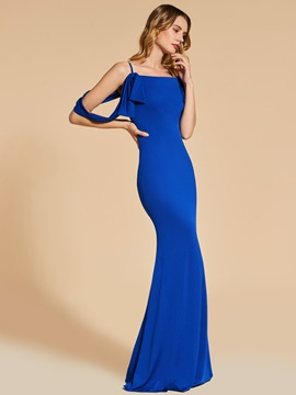 Ericdress Sheath Spaghetti Straps Floor Length Long Evening Dress