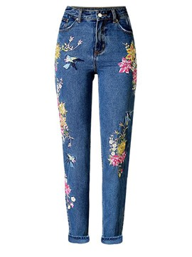 Ericdress Embroidery Denim Women's Jeans