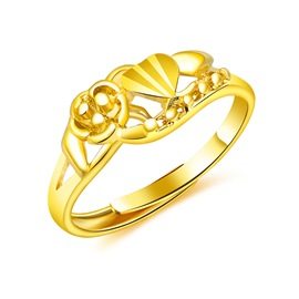 Ericdress High End 24K Imitation Gold Ring