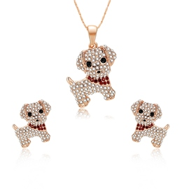 Ericdress Fully-Jewelled Puppy Pendant Jewelry Set