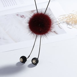 Ericdress Chic Pom Pom Necklace for Women
