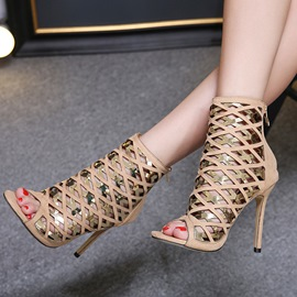 Ericdress Hollow Peep Toe Stiletto Heel Women's Shoes