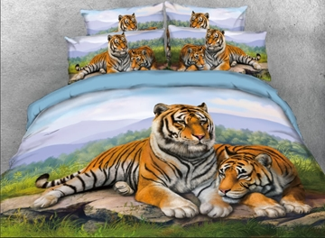 Animal Tencel Cotton Four-Piece Set Duvet Cover Set Hand Wash