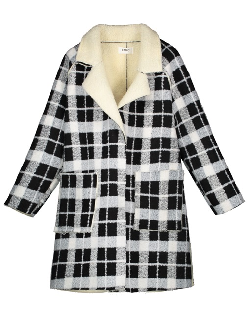 Ericdress Color Block Plaid Hidden Button Women's Overcoat