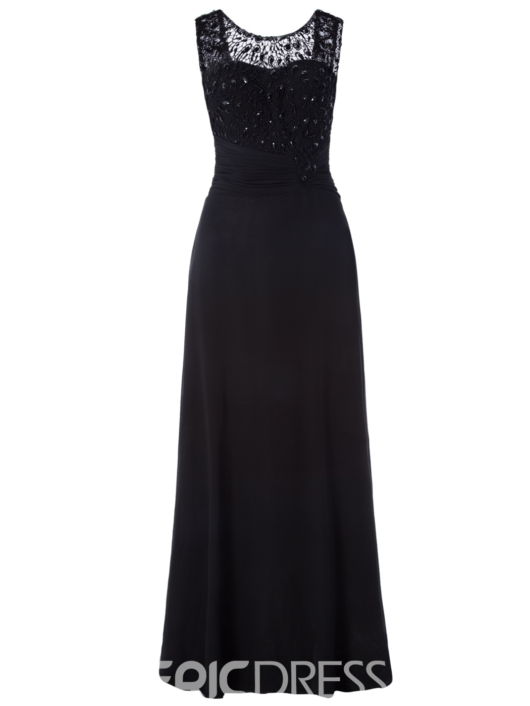 Ericdress Scoop Neck Lace-Up A Line Evening Dress