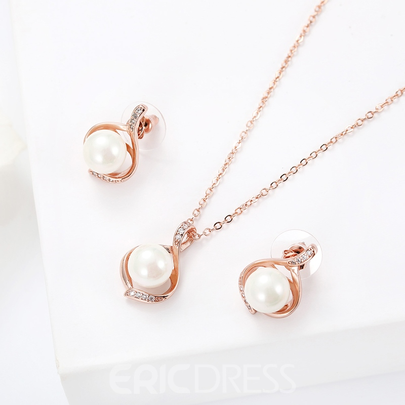 Ericdress Imitation Pearl Pendant Jewelry Set for Women