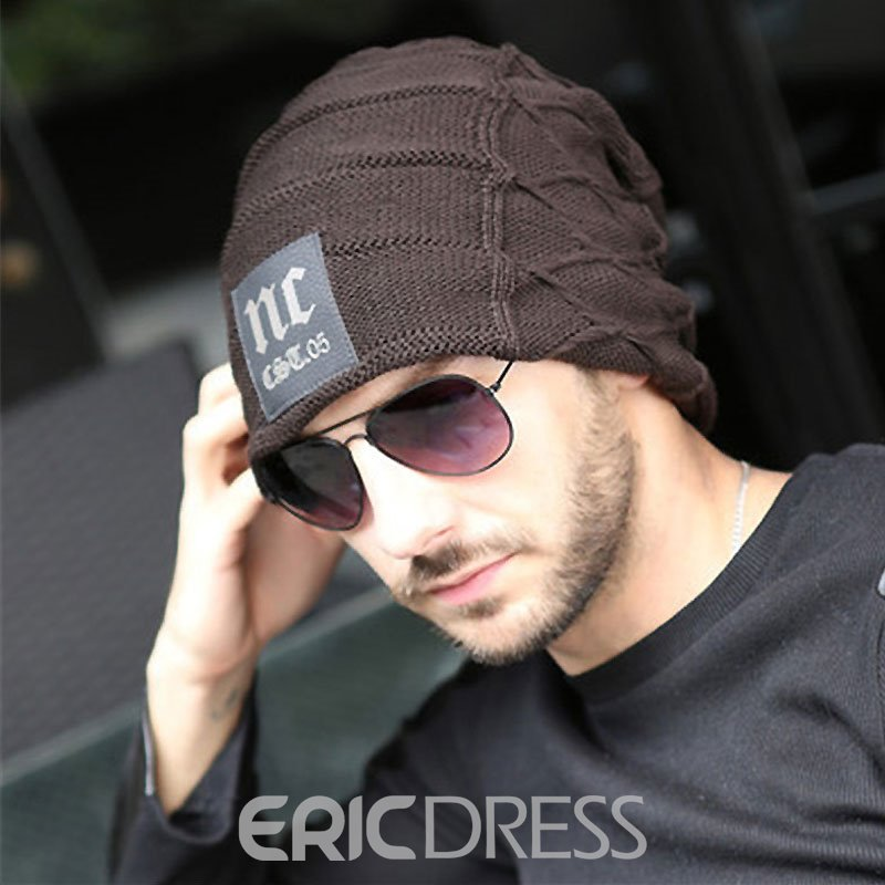 Ericdress Letter Printed Outdoor Knitting Men's Hat