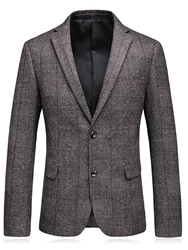 Ericdress Lapel Plaid Fit Mens Blazer