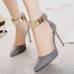 Ericdress Sequin Pointed Toe Plain Stiletto Heel Pumps