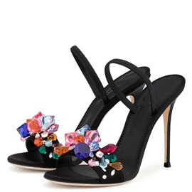 Ericdress Rhinestone Color Block Slip-On Stiletto Mules Shoes