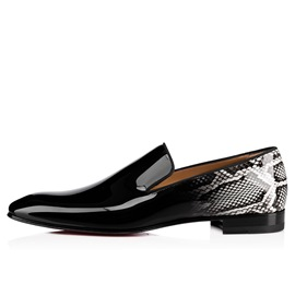 Ericdress Black Serpentine Patent Leather Men's Oxfords