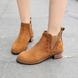 Ericdress Rivet Elastic Patchwork Plain Women's Ankle Boots