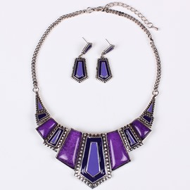 Ericdress Two-Piece Ultra Violet Women's Jewelry Set