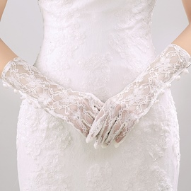 Ericdress Lace Finger Wedding Gloves