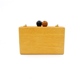 Ericdress Personality Wooden Evening Clutch