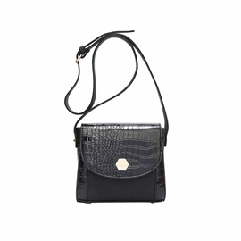 Ericdress Crocodile Embossing Crossbody Bag