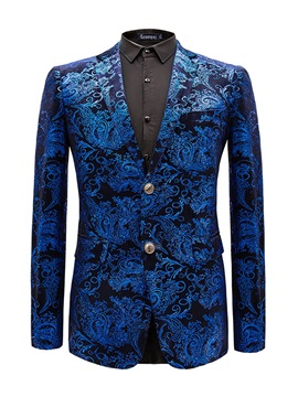 Ericdress Lapel Fit Print Men's Casual Blazer