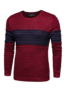 Ericdress Pullover Round Neck Slim Men's Sweater