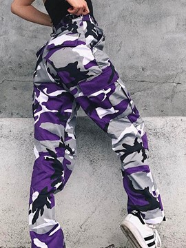 Ericdress Loose Camouflage Pocket Women's Pants