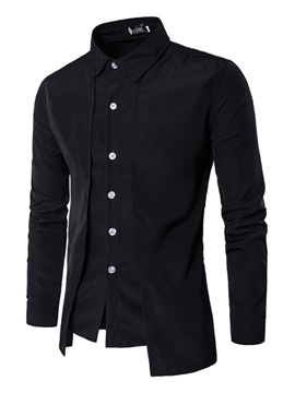 Ericdress Lapel Single-Breasted Men's Layered Look Jacket