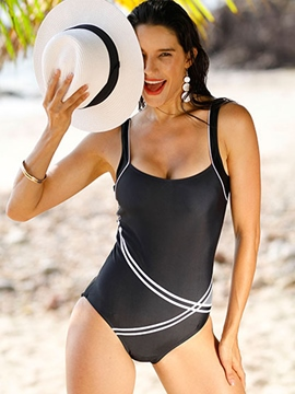 Ericdress Color Block U-Neck Spaghetti Straps Monokini
