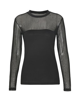 Ericdress Slim See-Through Lace Patchwork T-shirt