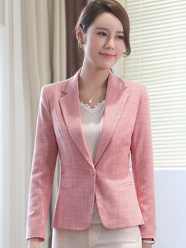 Ericdress Plain Slim One Button OL Blazer