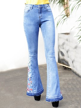 Ericdress Embroidery Women's Jeans