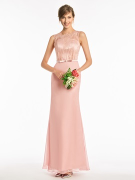 Ericdress Sheath Floor Length Lace Bridesmaid Dress